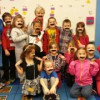 Mr. Hinkle stopped in to say what a great job Ms. Perry's class is doing. They had a mustache party!