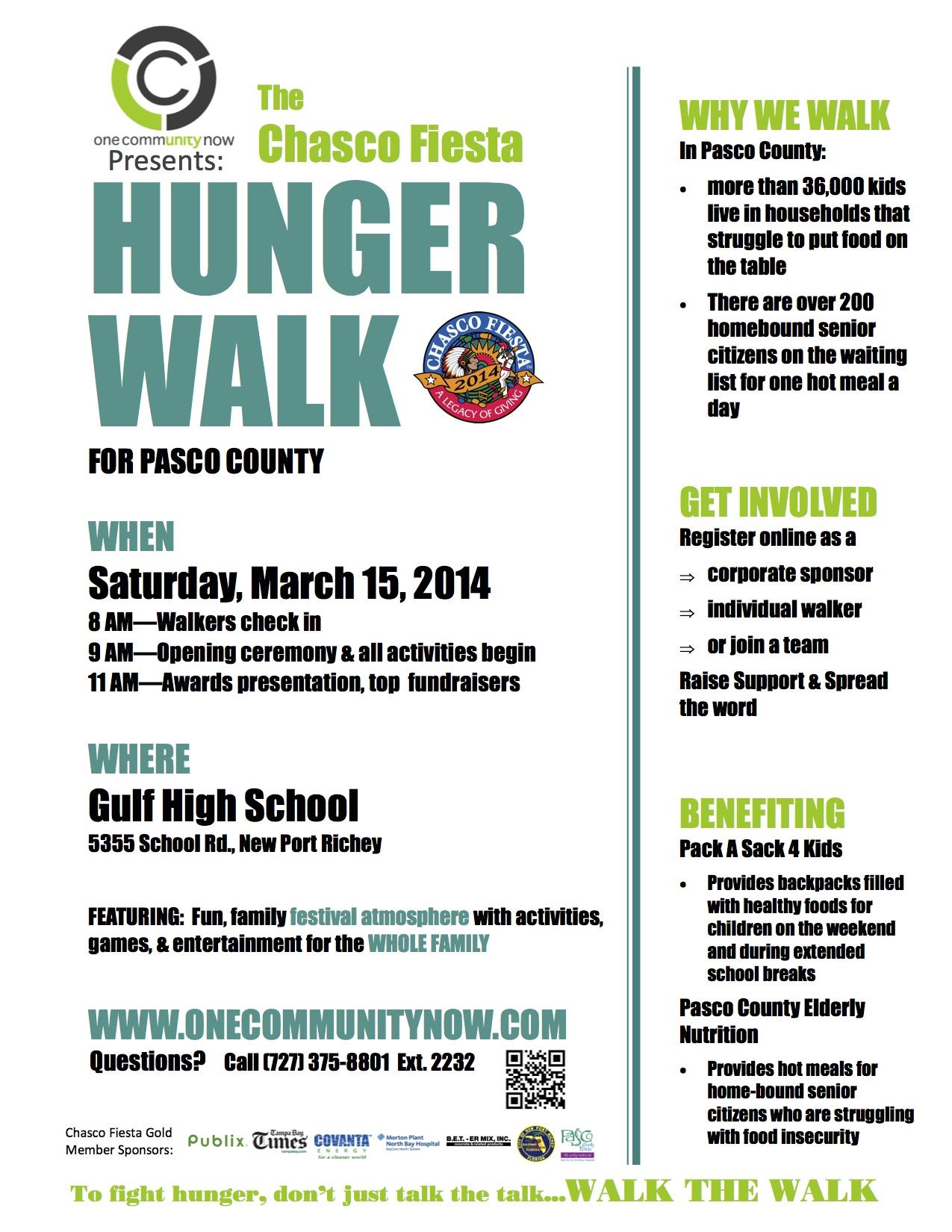 Hunger walk poster