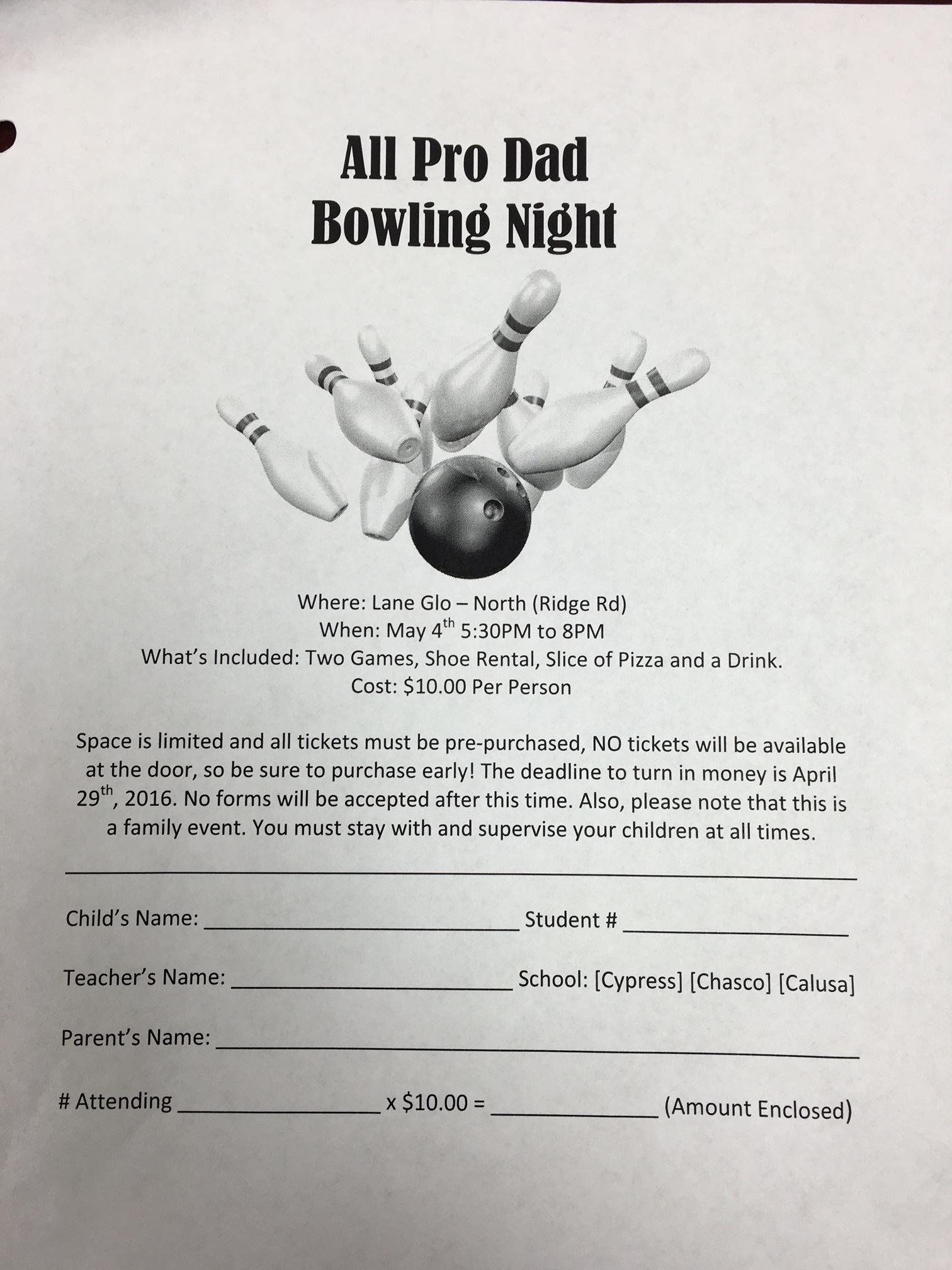 Bowling Night May 2016