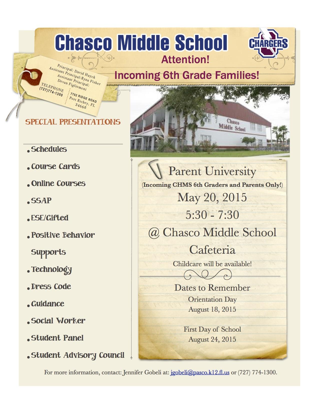 ParentUniversity 2015 Flyer