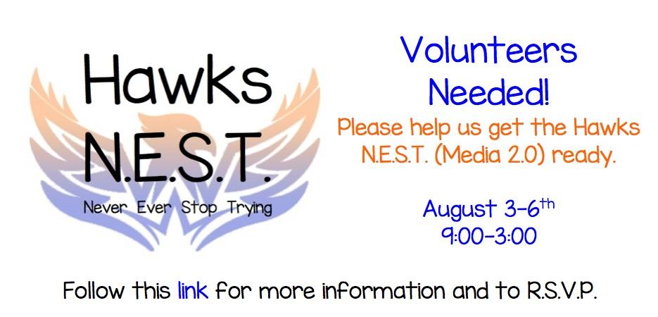Hawks NEST Help Needed Banner