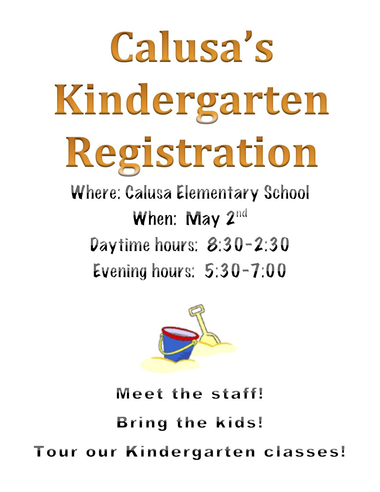 Calusa Kindergarten Registration