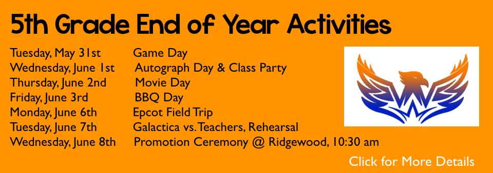 5th Grade EOY Activities 2016 | Calusa Elementary School