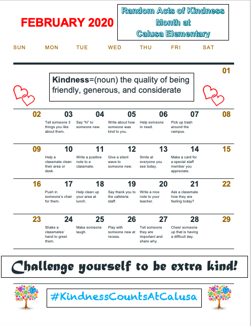Kindness Counts at Calusa!