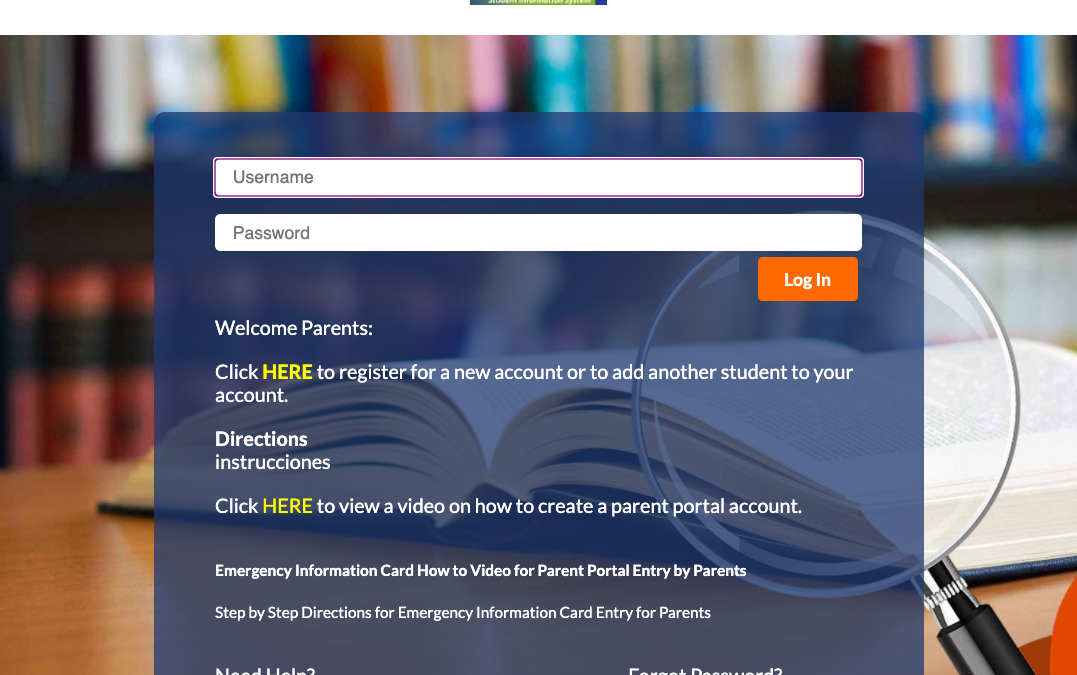 Digital Emergency Cards / Parent Portal Account