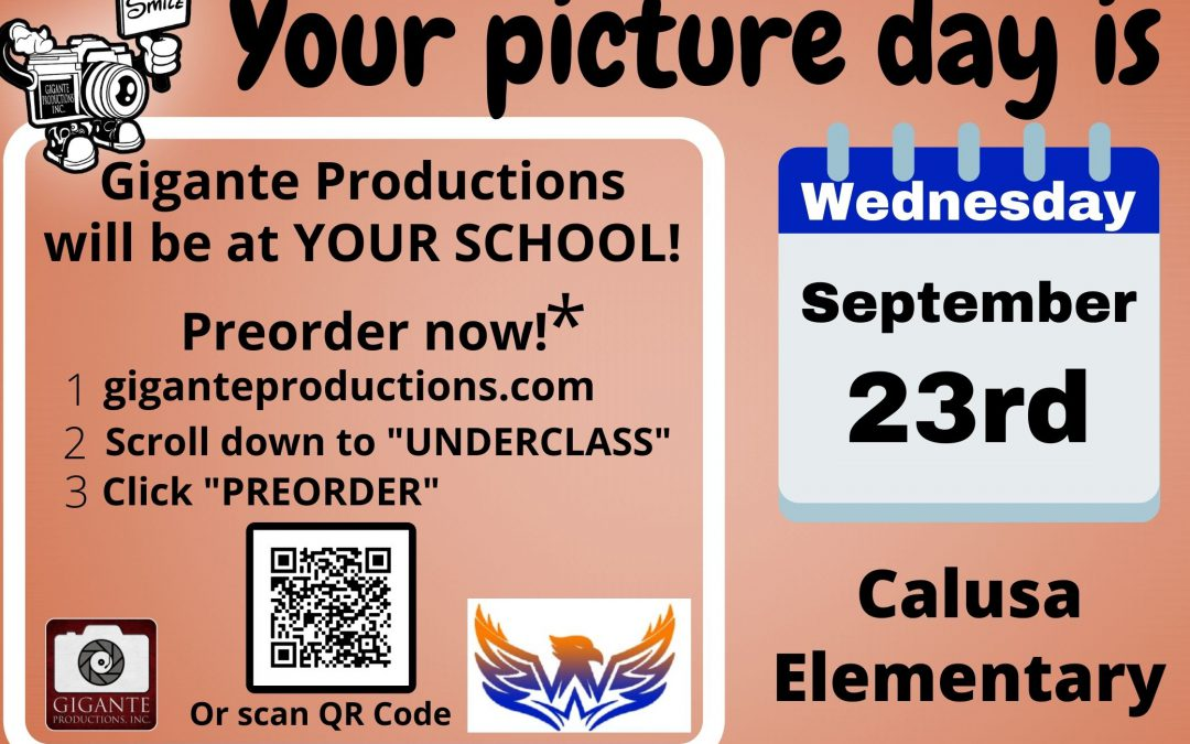 Picture Day Wednesday, September 23