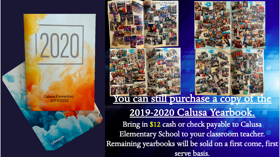 19-20 Yearbooks for Sale!